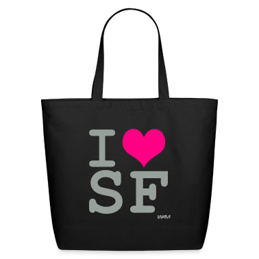 Black i love sf by wam Bags