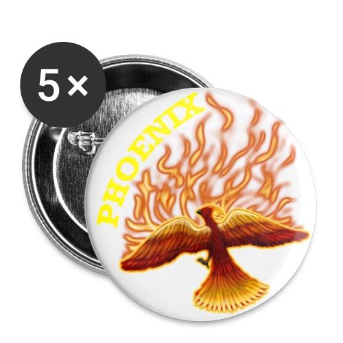 Fire Phoenix button - Large Buttons