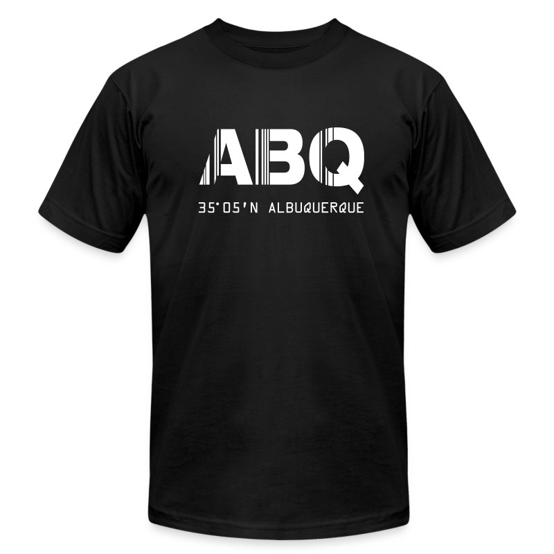 Albuquerque Airport Code New Mexico ABQ Fitted T-shirt - Men's Fine Jersey T-Shirt