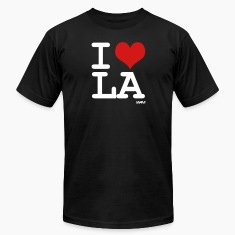 Black i love LA by wam T-Shirts