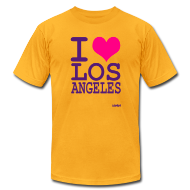 Gold iI love los angeles by wam T-Shirts