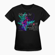 Black Proverbs 31 Virtuous Woman T-Shirt Design Women's T-shirts