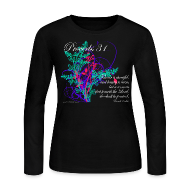 Long Sleeve Shirts ~ Women's Long Sleeve Jersey T-Shirt ~ Proverbs 31, Virtuous Woman, Womens Christian T-Shirts (long sleeve)
