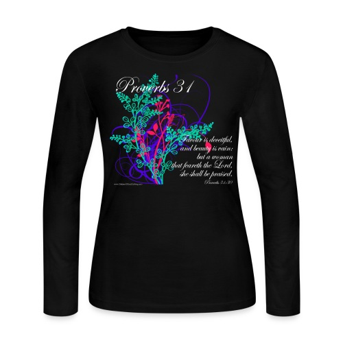 Proverbs 31, Virtuous Woman, Womens Christian T-Shirts (long sleeve) - Women's Long Sleeve Jersey T-Shirt