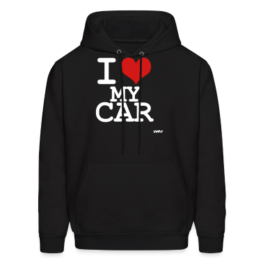 Black i love my car by wam Hoodies