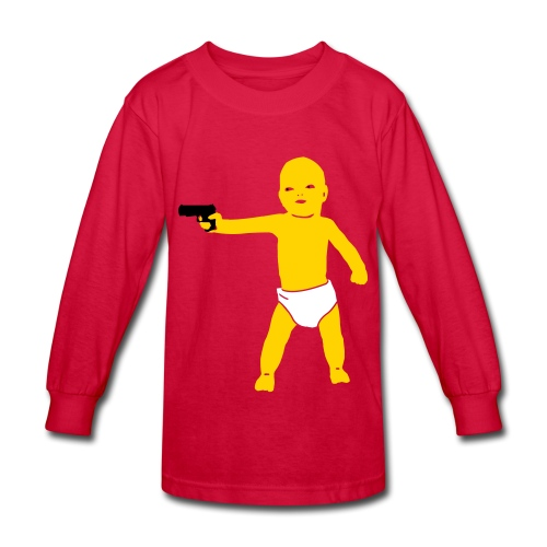 baby shoot out - Kids' Long Sleeve T-Shirt