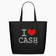 Black i love cash money by wam Bags
