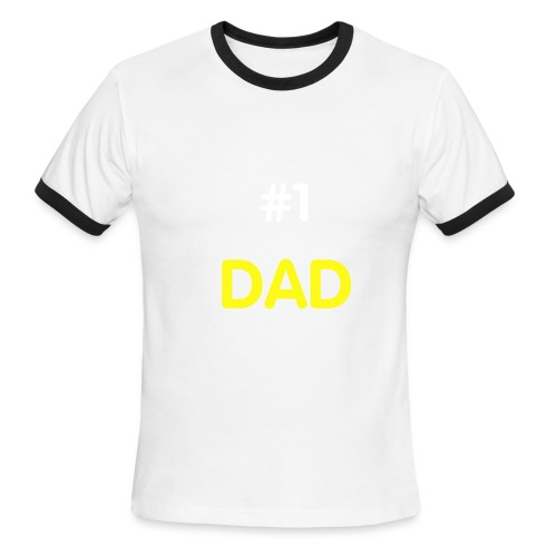 #1 DAD - Men's Ringer T-Shirt