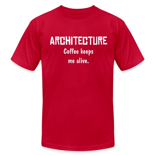 Architecture - Coffee keeps me alive - Men's Fine Jersey T-Shirt