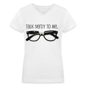 Nerdy bby. - Women's V-Neck T-Shirt