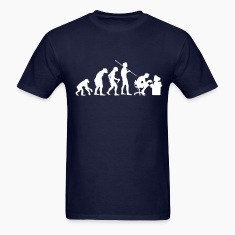 Navy Evolution of a Computer Geek T-Shirts