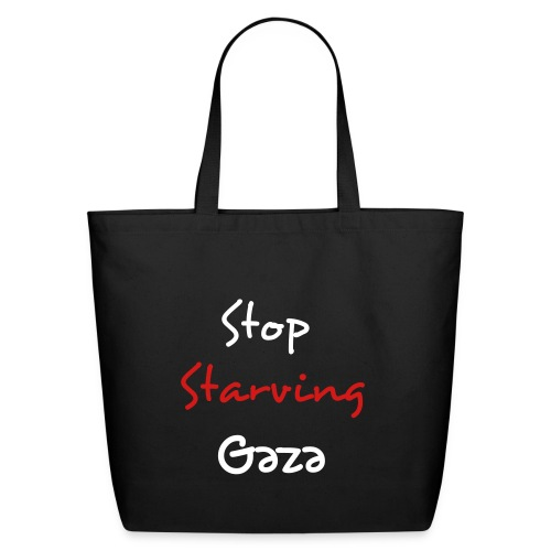 Stop Starving Gaza (Messenger Bag) - Eco-Friendly Cotton Tote