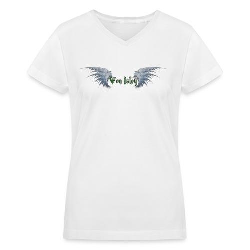 Von Isley Band Tee (Angel White) - Women's V-Neck T-Shirt