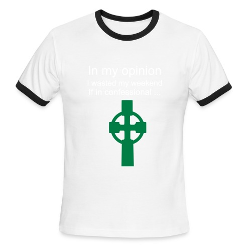 bad catholic - Men's Ringer T-Shirt