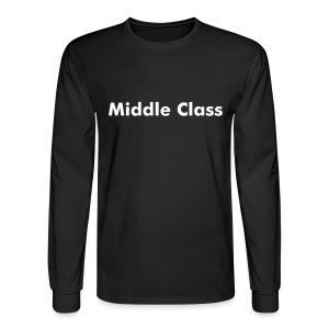 Middle-Class Long Sleeves Noir-Style - Men's Long Sleeve T-Shirt