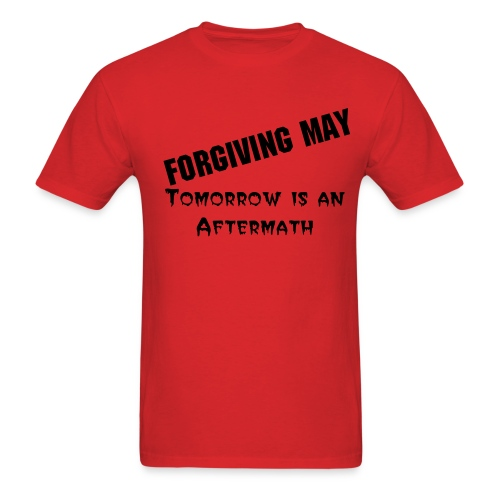 Tomorrow is an Aftermath (Red) - Men's T-Shirt