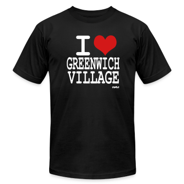 Black i love greenwich village by wam T-Shirts