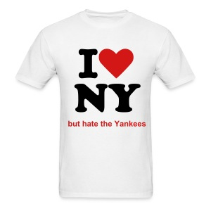 I love NY but hate the Yankees - Men's T-Shirt