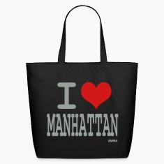 Black i love manhattan by wam Bags