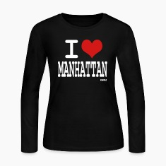 Black i love manhattan by wam Long sleeve shirts