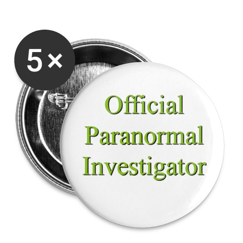 Official Paranormal Investigator - Small Buttons