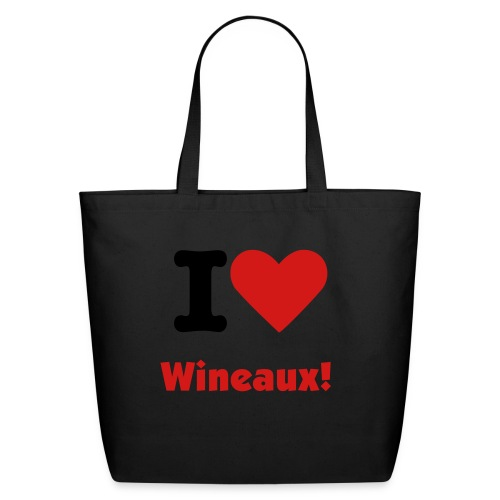 I Love Wineaux Tote - Eco-Friendly Cotton Tote