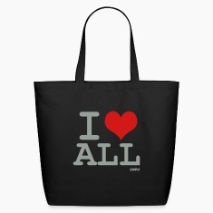 Black i love all by wam Bags