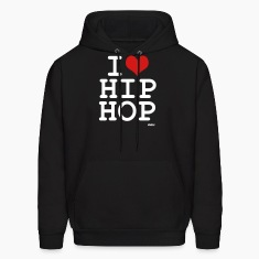Black i love hip hop by wam Hoodies