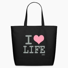 Black i love life by wam Bags
