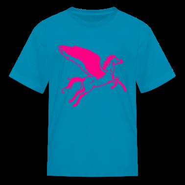 Classic pink flying horse pegasus Kids Shirts