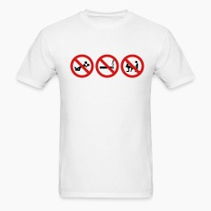 White Staight Edge - No drinking, no drugs no fucking ar T-Shirts