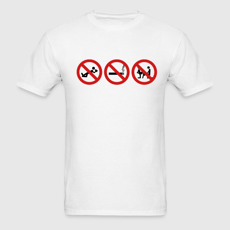 White Staight Edge - No drinking, no drugs no fucking ar T-Shirts - Men's T-Shirt