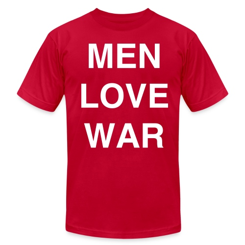 MEN LOVE WAR (St. Patrick's Day) - Men's T-Shirt by American Apparel