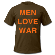 T-Shirts ~ Men's T-Shirt by American Apparel ~ MEN LOVE WAR (Halloween)