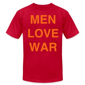 MEN LOVE WAR (Halloween) - Men's T-Shirt by American Apparel