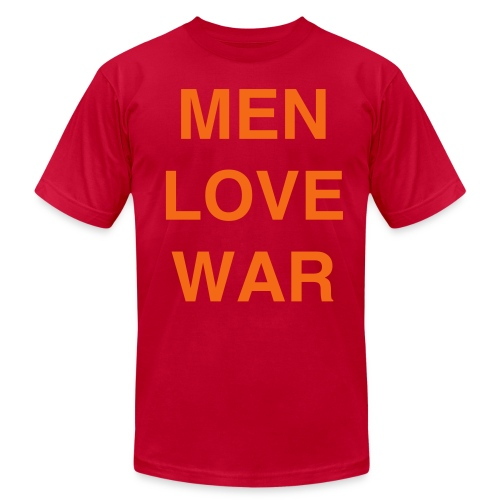 MEN LOVE WAR (Halloween) - Men's Fine Jersey T-Shirt
