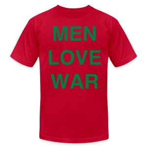 MEN LOVE WAR (Christmas) - Men's T-Shirt by American Apparel