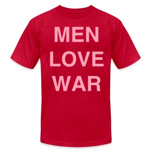 MEN LOVE WAR (Easter) - Men's T-Shirt by American Apparel