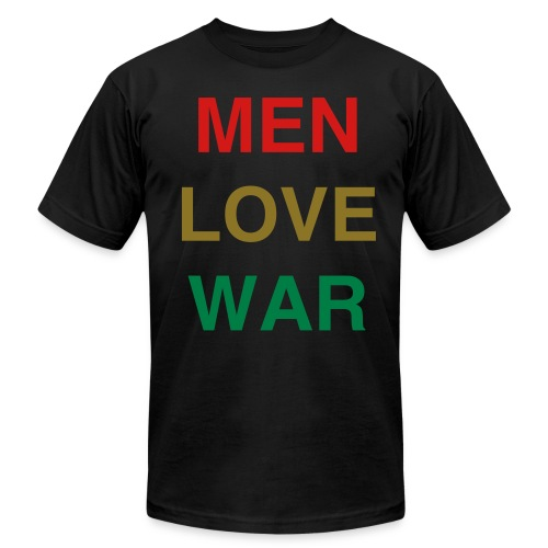 MEN LOVE WAR (Mardi Gras) - Men's T-Shirt by American Apparel