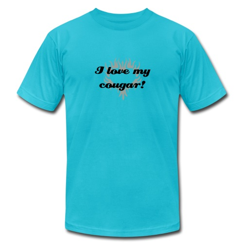 I love my cougar - Men's Fine Jersey T-Shirt