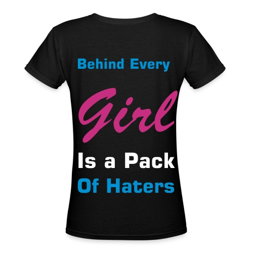 Haters - Women's V-Neck T-Shirt