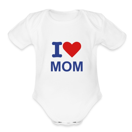 MOMMY LUV TEE - Organic Short Sleeve Baby Bodysuit