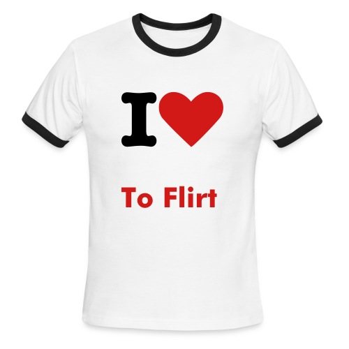 Flirtee - Men's Ringer T-Shirt