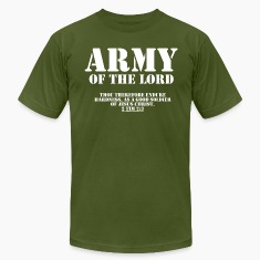 Olive Army of the Lord, Christian T-Shirts with Bible Ve T-Shirts
