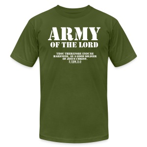 Army of the Lord, Christian T-Shirts - Men's T-Shirt by American Apparel