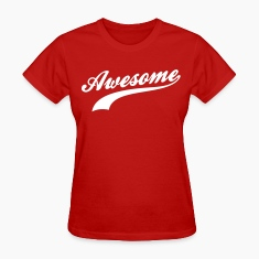 Red Awesome Women's T-shirts