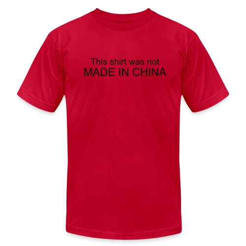 NOT made in china - Men's Fine Jersey T-Shirt