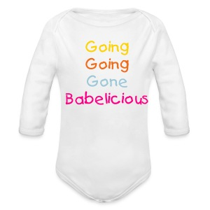 Going Babelicious White One-Piece - Long Sleeve Baby Bodysuit