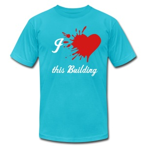 this Building owns your heart (artist tee) - Men's Fine Jersey T-Shirt