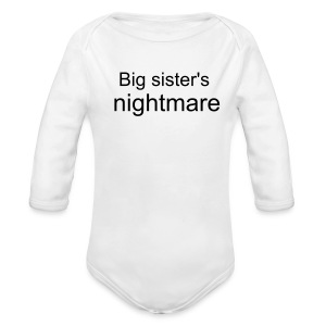 big sister's nightmare - Long Sleeve Baby Bodysuit